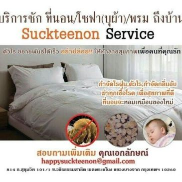 รับจ้างซักที่นอนทีบ้าน